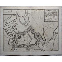 1694 AUDENARDE / OUDENAARDE, Flandre, ville forte-carte-ancienne-antiquarian-map-landkarte-kupferstich-n-de-fer