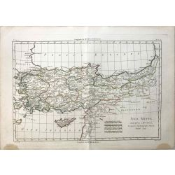 1779 Bonne, Asie Mineure / Asia Minor. carte ancienne, antiquarian map, landkarte.