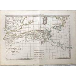 1780 Bonne, Afrique, Numidie, Maurétanie. carte ancienne, antiquarian map, landkarte.