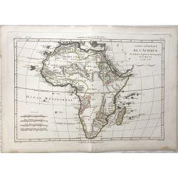 1780 Bonne, Afrique, Africa, Afrika. Carte générale. carte ancienne, antiquarian map, landkarte.