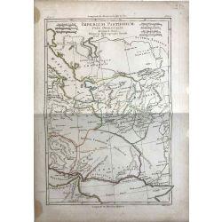 1780 Bonne, Royaume des Parthes, partie orientale. carte ancienne, antiquarian map, landkarte.