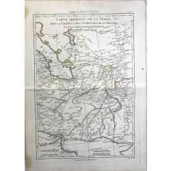 1790 Bonne, La Perse, carte moderne. carte ancienne, antiquarian map, landkarte.