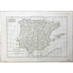 1780. Espagne, Portugal. Mappa Hispaniae Antiquae. carte ancienne, antiquarian map, landkarte.