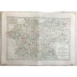1780 Bonne, Allemagne, Bohème, Silésie, Boehmen, Schlesien. carte ancienne, antiquarian map, landkarte.