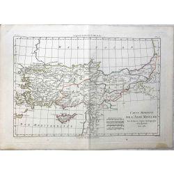 1781 Bonne, Asie Mineure Moderne. carte ancienne, antiquarian map, landkarte.