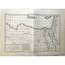 1781 Bonne, Egypte moderne, Tripoli. carte ancienne, antiquarian map, landkarte.