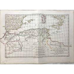 1781 Bonne, Royaumes de Fez, Alger, Tunis, Tripoli. carte ancienne, antiquarian map, landkarte.