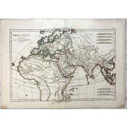 1781 Bonne, L'Ancien Monde / Orbis vetus. carte ancienne, antiquarian map, landkarte.