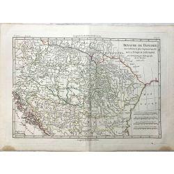1781 Bonne, Royaume de Hongrie, Turquie d'Europe, Hungary. carte ancienne, antiquarian map, landkarte.