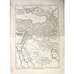 1781 Bonne, Turquie d'Asie. Carte moderne. carte ancienne, antiquarian map, landkarte.