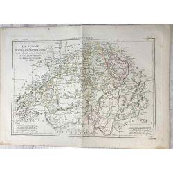 1786 Bonne, La Suisse. carte ancienne, antiquarian map, landkarte.