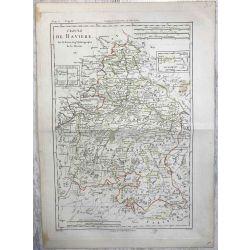 1787 Bonne, Cercle de Bavière, Bayern. carte ancienne, antiquarian map.