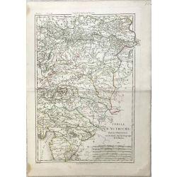 1787 Bonne, Autriche, partie orientale, Oesterreich. carte ancienne, antiquarian map, landkarte.