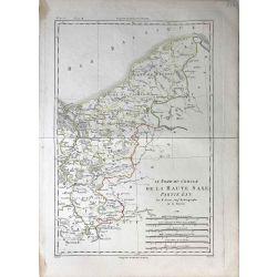 1788 Bonne, Haute Saxe Nord, partie est. carte ancienne, antiquarian map, landkarte.