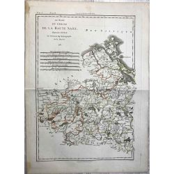 1788 Bonne, Haute Saxe Nord, partie ouest. carte ancienne, antiquarian map, landkarte.