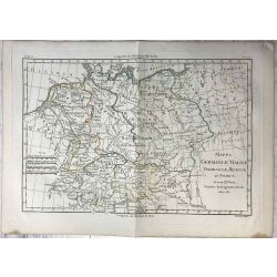 1780 Bonne, Germanie / Germania Magna. carte ancienne, antiquarian map, landkarte.