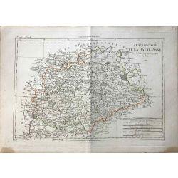 1788 Bonne, Sud du Cercle de la Haute Saxe. carte ancienne, antiquarian map, landkarte.