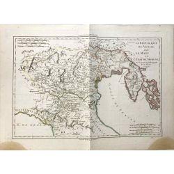 1789 Bonne, Venise, Mant, Modene, Italie. carte ancienne, antiquarian map, landkarte.