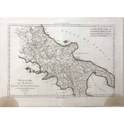 1789 Bonne, Naples, partie septentrionale, Napoli, Italie. carte ancienne, antiquarian map, landkarte.