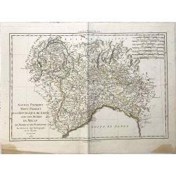 1789 Bonne, Savoie, Piemont, Mont Ferrat, Gênes. carte ancienne, antiquarian map, landkarte.