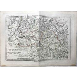 1790 Bonne, Anjou, Saumurois, Touraine. carte ancienne, antiquarian map, landkarte.