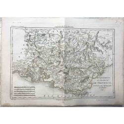1790 Bonne, Provence, France. carte ancienne, antiquarian map, landkarte.