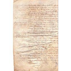 1600 parchemin vellum manusripts La Rochelle Aquisition 8 pp (4ff)
