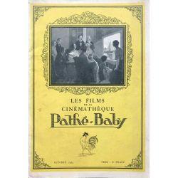 Revue oct. 1923 Pathé cinéma, anciens établissements Pathe frères, films de la cinématique