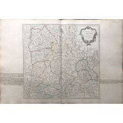 1751 Vaugondy, France, Gouvernement général du Dauphiné. carte ancienne, antiquarian map, landkarte