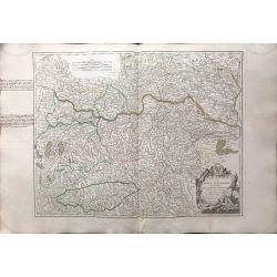 1752 Vaugondy Cercle d'Autriche, Archiduché et Stirie / Oesterreich, Steiermark, carte ancienne, antiquarian map, landkarte,