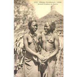 CPA Jeunes Peulhes, Sénégal, Afrique Occidentale, Fortier 1171, Nu ethnique