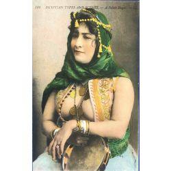 CPA Egyptian types ans scenes a Fellah singer, Lehnert & Landrock, 184