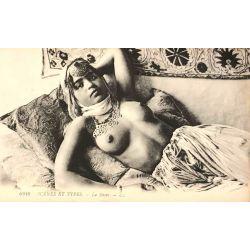CPA, La sieste, seins nus, scenes et types, Lehnert & Landrock, 6349 .