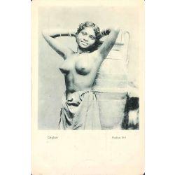 CPA Rodiya girl, Ceyon, Nu ethnique, ethnic nude, Paté & co .