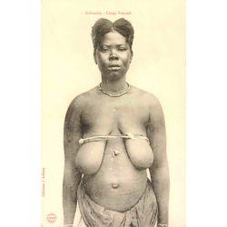 CPA Gabonaise, Congo Francais, Audema J. Nu ethnique