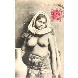 CPA Rhodiya Sinhalese, Nu ethnique, ethic nude, Skeen photo.