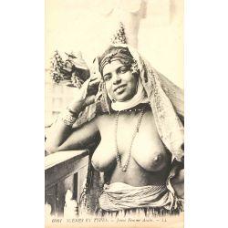 CPA jeune femme arabe, seins nus, Scenes et types, 6061 Lehnert & Landrock..
