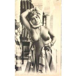 CPA jeune femme arabe, seins nus, Scenes et types, 6275 Lehnert & Landrock.
