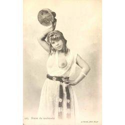 CPA Danse du tambourin, seins nus, Geiser, 423