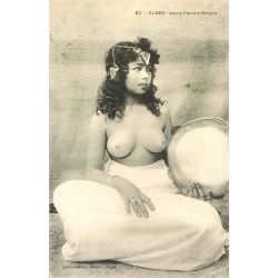 CPA Alger Jeune femme Kabyle,seins nus, 82