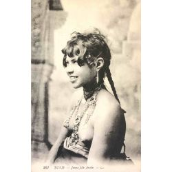 CPA Tunis, Jeune fille Arabe, seins nus, Lehnert & Landrock, 387