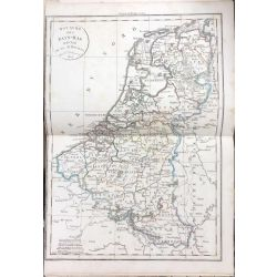 1824 Delamarche ROYAUME DES PAYS-BAS, carte ancienne, antiquarian map, landkarte, kupferstich
