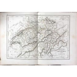 1825 Delamarche, REPUBLIQUE HELVETIQUE, Schweiz, Suisse, carte ancienne, antiquarian map, landkarte, kupferstich