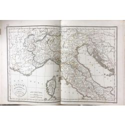 1823 Delamarche, ITALIE SEPTENTRIONALE, carte ancienne, antiquarian map, landkarte, kupferstich