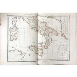 1823 Delamarche, NAPLES, SICILIE, SARDAIGNE, carte ancienne, antiquarian map, landkarte, kupferstich