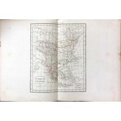 1825 Delamarche, TURQUIE D'EUROPE, carte ancienne, antiquarian map, landkarte, kupferstich
