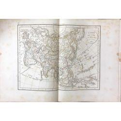 1823 Delamarche, L'ASIE, Asia, Asien, carte ancienne, antiquarian map, landkarte, kupferstich