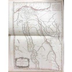 1783 Bonne, EGYPTE ANCIENNE, carte ancienne, antiquarian map, landkarte, kupferstich