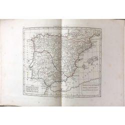 1824 Delamarche, ESPAGNE, HISPANIAE ANTIQUAE, carte ancienne, antiquarian map, landkarte, kupferstich