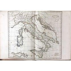 1823 Delamarche, ITALIE. ITALIAE ANTIQUAE, Mappa nova, carte ancienne, antiquarian map, landkarte, kupferstich